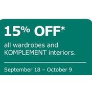 All Wardrobe and KOMPLEMENT Interiors - 15% off