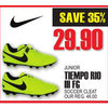 Nike Junior Tiempo Rio III FG Soccer Cleat - $29.90 (35% off)