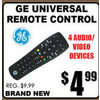 GE Universal Remote Control - $4.99