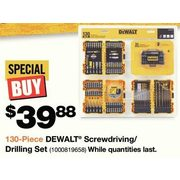 Dewalt Screwdriving/ Drilling Set  - $39.88