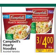 Campbell's Hearty Noodles - 3/$4.00