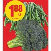 Broccoli Crowns or Green Beans - $1.88/lb