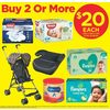 Enfagrow A+ Toddler Nutritional Supplement, Buy Pattern Umbrella Stroller or Low Back Booster Seat, Pampers or Huggies 16x Wipes,