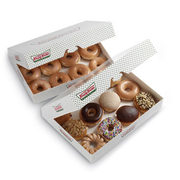 Krispy Kreme: Get a Dozen Original Glazed Doughnuts for $1 When You Buy Any Dozen, Today Only