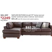 the bay natuzzi editions amalfi leather sectional sofa with chaise rh redflagdeals com