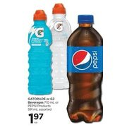 Gatorade Or G2 Beverage Or Pepsi Products - $1.97