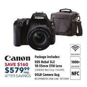 Canon EOS Rebel SL2 DSLR Camera with 18-55mm Lens Kit - $579.99 ($160.00 off)