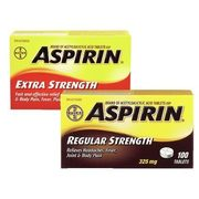 Aspirin Extra Strength or Regular Strength or Coasted Caplets or Tablets - $7.99