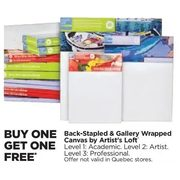 Back-Stapled & Gallery Wrapped Canvas By Artist's Loft - BOGO Free
