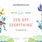 Anthropologie: 25% off Everything