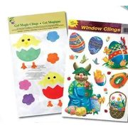 Easter Window Clings Or Magic Gel Stick-Ons Or Easter Egg Decorating Kits - 15% off