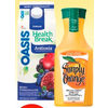 Simply, PC Or Oasis Juice Blends - $2.99