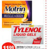 Motrin Platinum or Tylenol Pain Relief Products  - $11.99