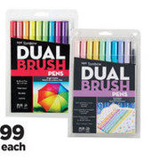10 Pc. Tombow Dual Brush Pens - $18.99